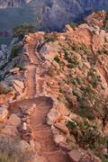 south kaibab trail steps - stock photo