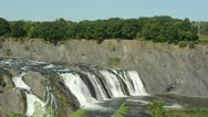 Stock Video Footage of Wild waterfall in Cohoes, New York