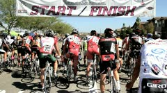 Cycling race (23) Stock Footage