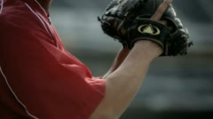 Pitchers Glove Stock Footage