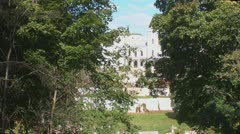View of the estate of the woods Stock Footage