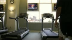 Treadmill Man 2 Stock Footage