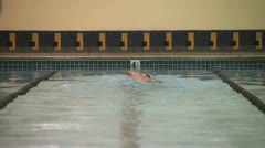 Swimmer - stock footage