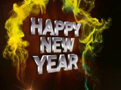 Happy new year text red 2 320x240 Stock Footage