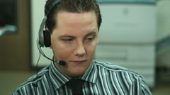 Call Center Guy - stock footage