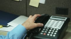 Cubicle Call 1 Stock Footage