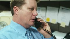 Cubicle Call 2 Stock Footage