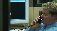 Cubicle Conversation Stock Footage