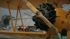 Antique Plane - stock footage