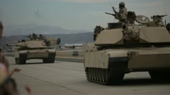 Military Tanks Stock Footage