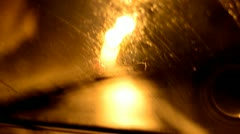 Driving In Rain (Set) Stock Footage