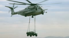 Freight Copter - stock footage
