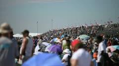 Airshow Crowd Stock Footage