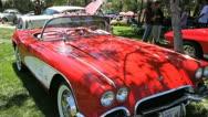 Vintage Corvette 3 Stock Footage