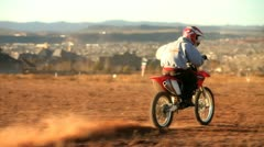 Dirtbike Ride 2 Stock Footage