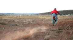 Dirtbike Jump 2 Stock Footage
