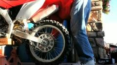 Dirtbike Repair 1 Stock Footage