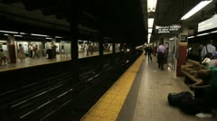 Subway Arrival 2 Stock Footage