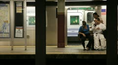 Waiting for Subway Stock Footage