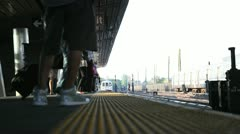 Train Platform  1 Stock Footage