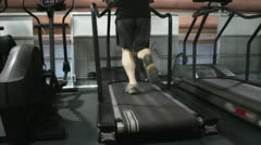 Man Running on Treadmill Stock Footage
