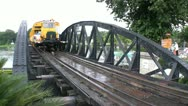 Train Crossing Bridge On The River Kwai Stock Footage