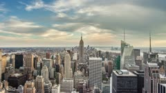 Manhattan New York City Daytime - Empire State Building Beautiful NYC Day Tilt Stock Footage