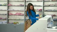 Shopping for Children's Clothes Stock Footage
