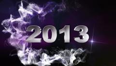 2013 text blue 1 1280x720 Stock Footage
