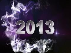 2013 text blue 1 320x240 Stock Footage