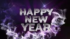 Happy new year text BLUE 1 1280x720 Stock Footage