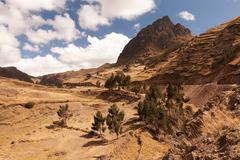 Typical Andean Landscape In Ecuadorian Cordillera Horizontal - stock photo