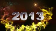 2013 text red 1 1280x720 Stock Footage