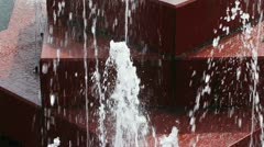 Close view of fountain water jets - stock footage