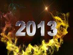 2013 text red 1 320x240 Stock Footage