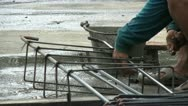 Stock Video Footage of Asian Man Working On Rebar Metal