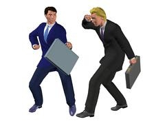 Business competition - stock illustration