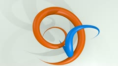 Two twisting curves Stock Footage