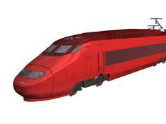 Modern train - stock illustration