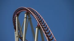 roller coaster 7 - stock footage