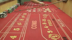 craps game 2 - stock footage