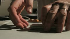 Shuffling cards 1 Stock Footage