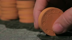 Poker chips 1 Stock Footage