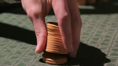 Poker chips 2 Stock Footage