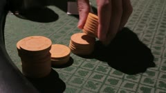 Poker chips 3 Stock Footage