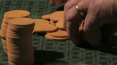 Poker game 14 Stock Footage