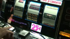 Playing slots 4 Stock Footage