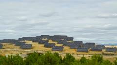 Solar panels time lapse 4K Stock Footage