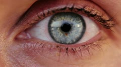Female eye Stock Footage