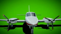Cessna chancellor animation Stock Footage